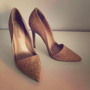 ShoeDazzle Cork Pumps